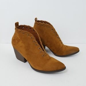 COCONUTS BY MATISSE Bamba Brown Faux Suede Booties
